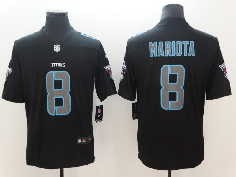 Nike Titans 8 Marcus Mariota Black Vapor Impact Limited Jersey