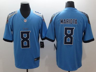 Nike Titans 8 Marcus Mariota Light Blue New 2018 Vapor Untouchable Limited Jersey