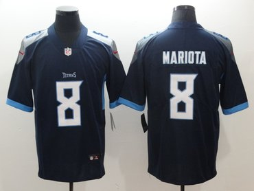 Nike Titans 8 Marcus Mariota Navy New 2018 Vapor Untouchable Limited Jersey