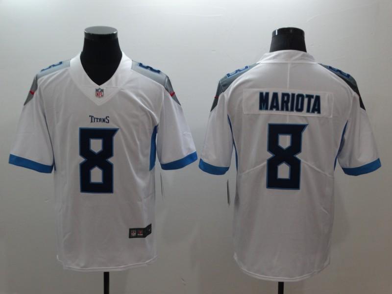 Nike Titans 8 Marcus Mariota White Vapor Untouchable Limited Jersey