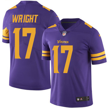 Nike Vikings #17 Kendall Wright Purple Men's Stitched NFL Limited Rush Jersey