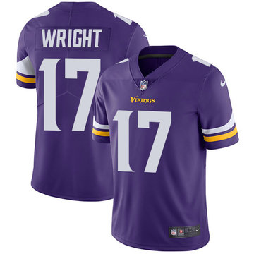 Nike Vikings #17 Kendall Wright Purple Team Color Men's Stitched NFL Vapor Untouchable Limited Jersey