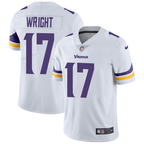 Nike Vikings #17 Kendall Wright White Men's Stitched NFL Vapor Untouchable Limited Jersey