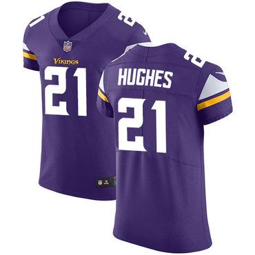 Nike Vikings #21 Mike Hughes Purple Team Color Men's Stitched NFL Vapor Untouchable Elite Jersey