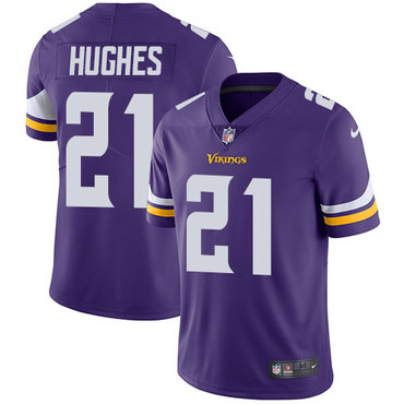 Nike Vikings #21 Mike Hughes Purple Team Color Men's Stitched NFL Vapor Untouchable Limited Jersey