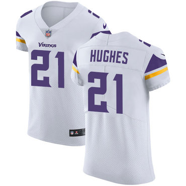 Nike Vikings #21 Mike Hughes White Men's Stitched NFL Vapor Untouchable Elite Jersey