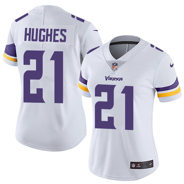 Nike Vikings #21 Mike Hughes White Women's Stitched NFL Vapor Untouchable Limited Jersey