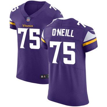 Nike Vikings #75 Brian O'Neill Purple Team Color Men's Stitched NFL Vapor Untouchable Elite Jersey