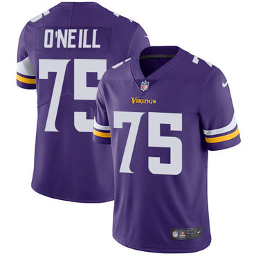 Nike Vikings #75 Brian O'Neill Purple Team Color Men's Stitched NFL Vapor Untouchable Limited Jersey