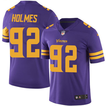 Nike Vikings #92 Jalyn Holmes Purple Men's Stitched NFL Limited Rush Jersey