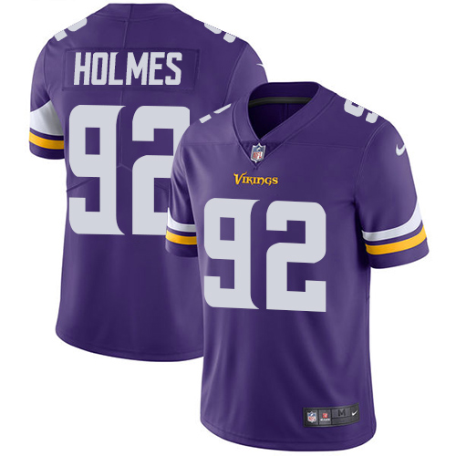 Nike Vikings #92 Jalyn Holmes Purple Team Color Men's Stitched NFL Vapor Untouchable Limited Jersey