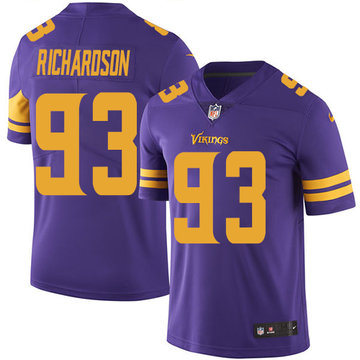 Nike Vikings #93 Sheldon Richardson Purple Men's Stitched NFL Limited Rush Jersey
