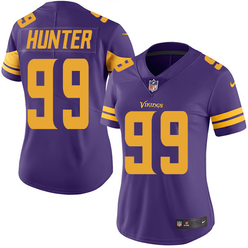 Nike Vikings #99 Danielle Hunter Purple Women's Stitched NFL Limited Rush Jersey