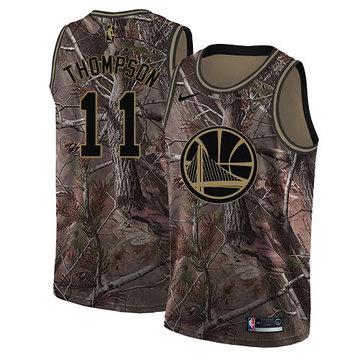 Nike Warriors #11 Klay Thompson Camo NBA Swingman Realtree Collection Jersey