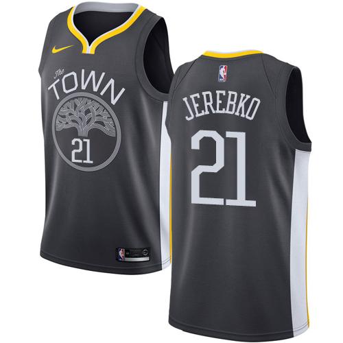 Nike Warriors #21 Jonas Jerebko Black NBA Swingman Statement Edition Jersey