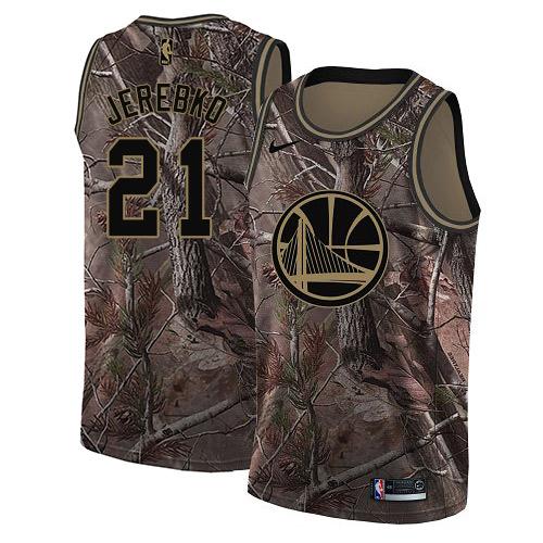 Nike Warriors #21 Jonas Jerebko Camo NBA Swingman Realtree Collection Jersey