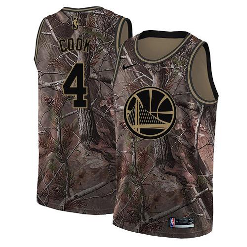 Nike Warriors #4 Quinn Cook Camo NBA Swingman Realtree Collection Jersey
