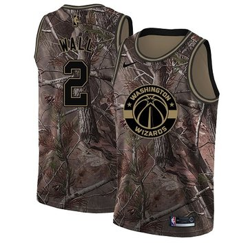 Nike Wizards #2 John Wall Camo Women's NBA Swingman Realtree Collection Jersey