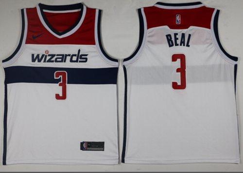 Nike Wizards #3 Bradley Beal White Association Edition NBA Swingman Jersey