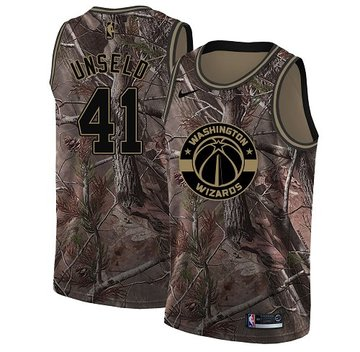 Nike Wizards #41 Wes Unseld Camo NBA Swingman Realtree Collection Jersey