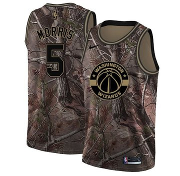 Nike Wizards #5 Markieff Morris Camo Women's NBA Swingman Realtree Collection Jersey