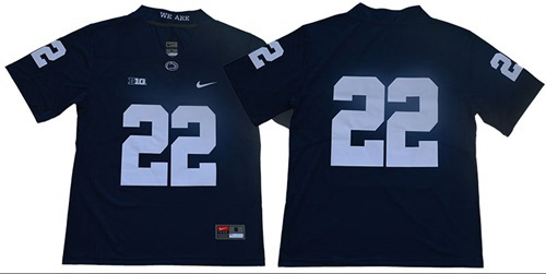 Nittany Lions #22 Navy Blue Limited Stitched College Jersey