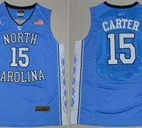 North Carolina #15 Vince Carter Blue Stitched NCAA Jersey