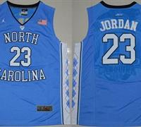 North Carolina #23 Michael Jordan Blue Stitched NCAA Jersey