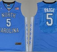 North Carolina #5 Marcus Paige Blue Basketball Stitched NCAA Jersey