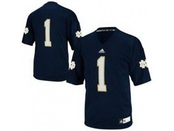 Notre Dame Fighting Irish 1 Louis Nix III Blue Techfit College Football NCAA Jerseys