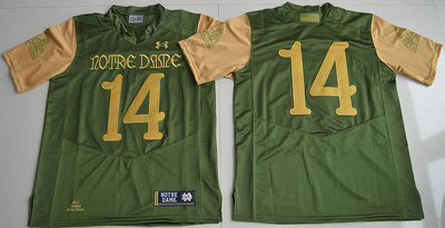 Notre Dame Fighting Irish 14 Green College Jersey