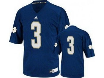 Notre Dame Fighting Irish 3 Joe Montana Blue Techfit College Football NCAA Jerseys