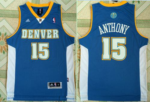 Nuggets #15 Carmelo Anthony Stitched Baby Blue NBA Jersey
