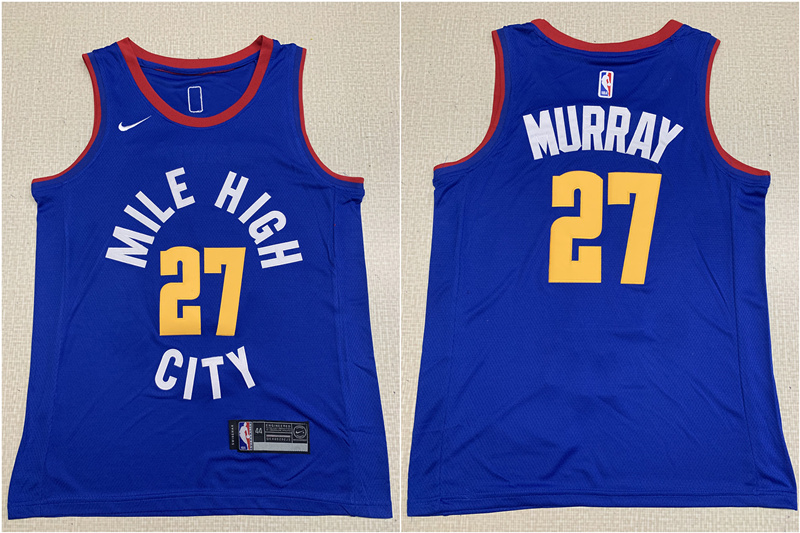 Nuggets 27 Jamal Murray Blue Nike Swingman Jersey