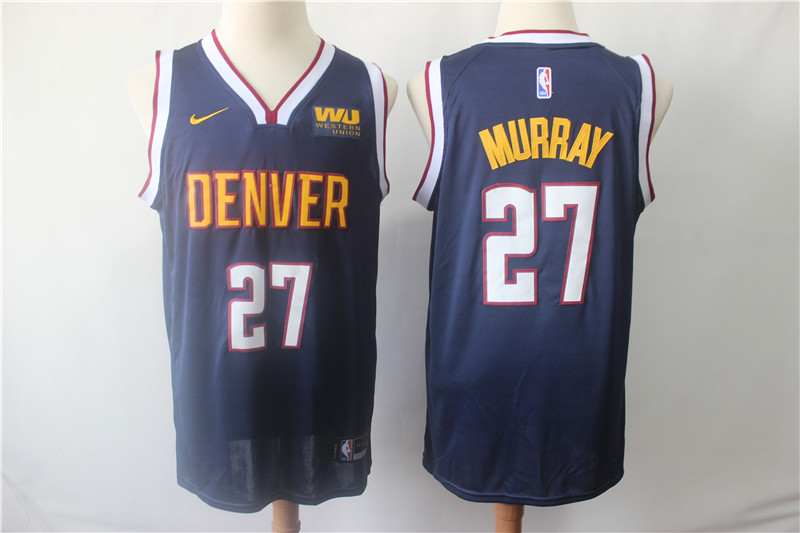 Nuggets 27 Jamal Murray Navy Nike Swingman Jersey