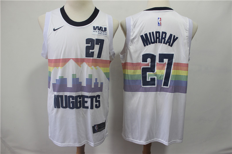 Nuggets 27 Jamal Murray White 2018-19 City Edition Nike Swingman Jersey