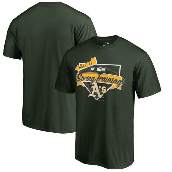 Oakland Athletics Fanatics Branded 2017 MLB Spring Training Logo T Shirt Green