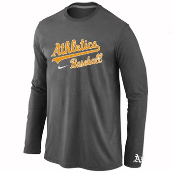 Oakland Athletics Long Sleeve T-Shirt D.Grey