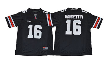 Ohio State Buckeyes 16 J.T. Barrett IV Black College Football Jersey