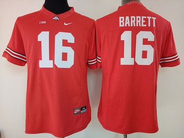 Ohio State Buckeyes 16 J.T. Barrett Red College Football Jersey