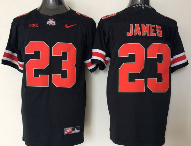 Ohio State Buckeyes 23 Lebron James Black College Football Jersey