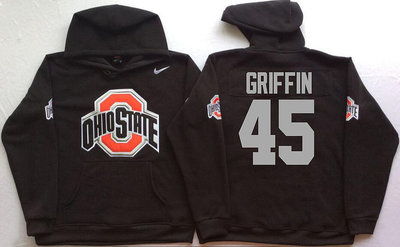 Ohio State Buckeyes 45 Archie Griffin Black Men's Pullover Hoodie