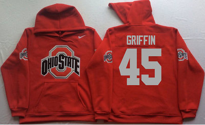 Ohio State Buckeyes 45 Archie Griffin Red Men's Pullover Hoodie