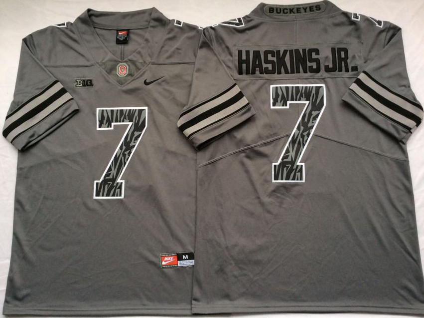 Ohio State Buckeyes 7 Dwayne Haskins Jr Gray Shadow College Football Jersey
