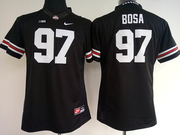 Ohio State Buckeyes 97 Joey Bosa Black Women College Football Jersey