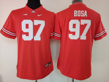 Ohio State Buckeyes 97 Joey Bosa Red College Football Jersey