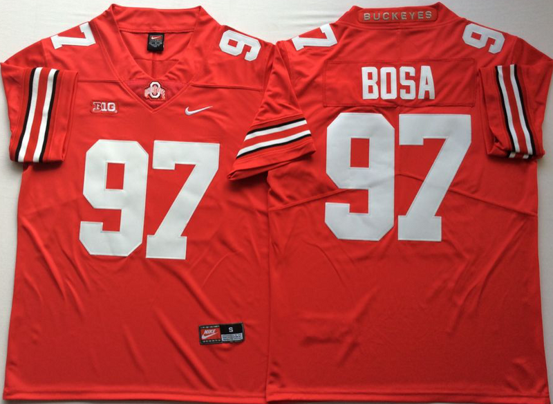 Ohio State Buckeyes 97 Joey Bosa Red Nike College Football Jersey