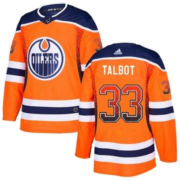 Oilers 33 Cam Talbot Orange Drift Fashion Adidas Jersey