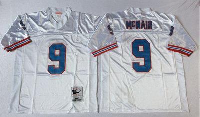 Oilers 9 Steve McNair White Throwback Jersey