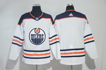 Oilers Blank White Adidas Jersey